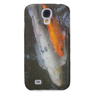 Pescados de KOI en la charca Funda Para Galaxy S4