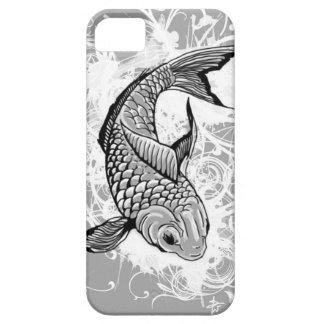 Pescados de Koi (grises) iPhone 5 Case-Mate Carcasa