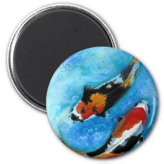 Pescados de Koi Imán Redondo 5 Cm