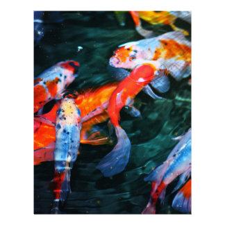 Pescados de Koi Membrete