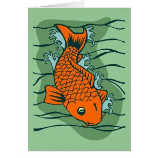 Pescados de Koi Felicitación
