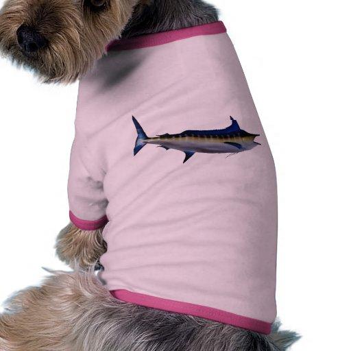 Pescados de la aguja azul camisa de perrito