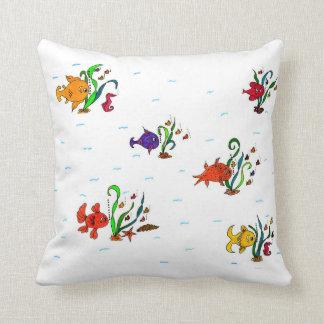 Pescados de la almohada de tiro del poliéster cojín decorativo