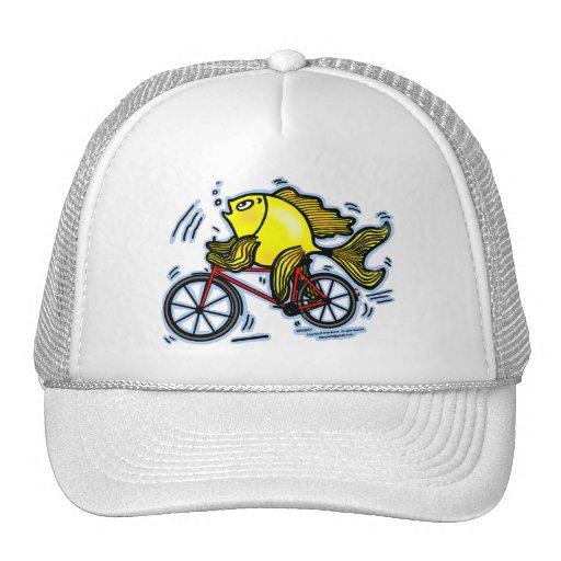 Pescados de la bicicleta (bici) gorras de camionero