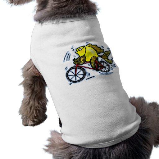 Pescados de la bicicleta (bici) ropa de mascota