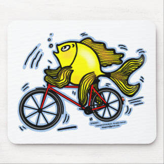 Pescados de la bicicleta (bici) tapete de raton