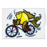Pescados de la bicicleta (bici) tarjeton