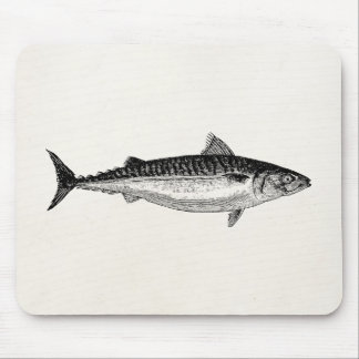 Pescados de la caballa común del vintage - alfombrilla de ratón