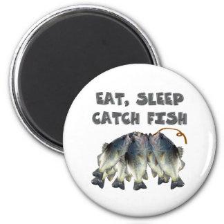 pescados de la captura imán redondo 5 cm