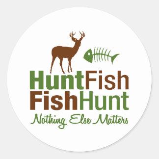 Pescados de la caza nada materias otras pegatinas