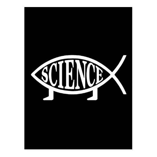 Pescados de la ciencia tarjetas postales