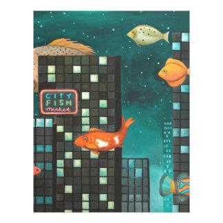 Pescados de la ciudad membrete personalizado