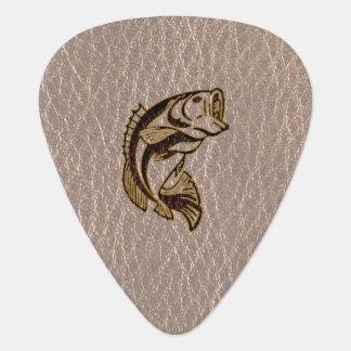 Pescados de la Cuero-Mirada suaves Plumilla De Guitarra
