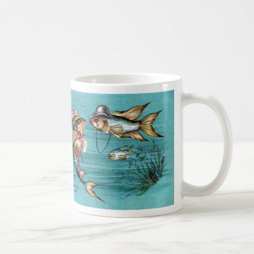 Pescados de la datación con el vintage de los gorr taza