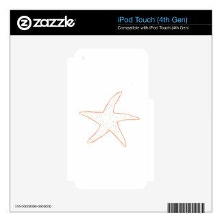 Pescados de la estrella calcomanías para iPod touch 4G