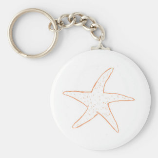 Pescados de la estrella llavero redondo tipo pin