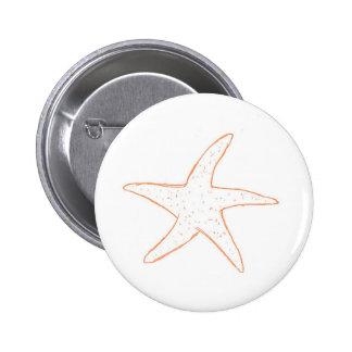 Pescados de la estrella pin redondo de 2 pulgadas