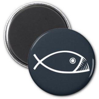 Pescados de la evolución imán redondo 5 cm