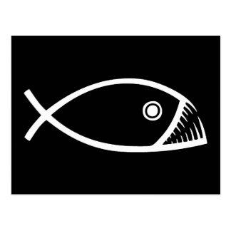 Pescados de la evolución tarjeta postal