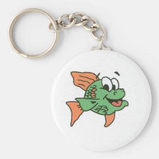 Pescados de la firma de Linda Llavero Redondo Tipo Pin