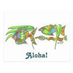Pescados de la hawaiana tarjetas postales