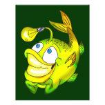 Pescados de la idea tarjeta publicitaria