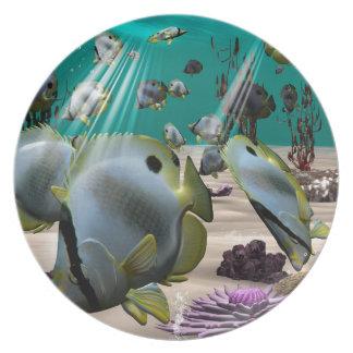 Pescados de la mariposa plato