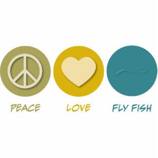 Pescados de la mosca del amor de la paz escultura fotografica