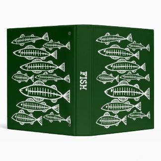 """Pescados de la radiografía - (el 1.0in) - verde os carpeta 1"""""""