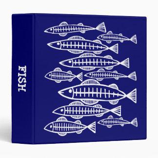 """Pescados de la radiografía - (el 1.5in) - marina carpeta 1 1/2"""""""