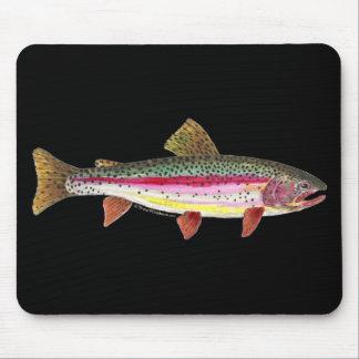 Pescados de la trucha arco iris alfombrillas de ratones