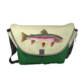 Pescados de la trucha arco iris bolsa messenger
