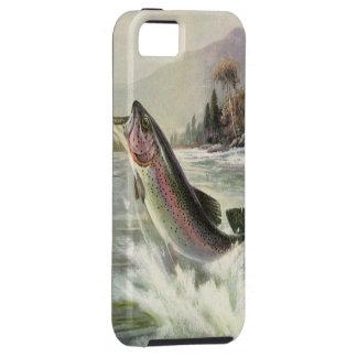 Pescados de la trucha arco iris de la pesca del funda para iPhone SE/5/5s