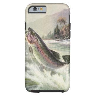 Pescados de la trucha arco iris de la pesca del funda resistente iPhone 6