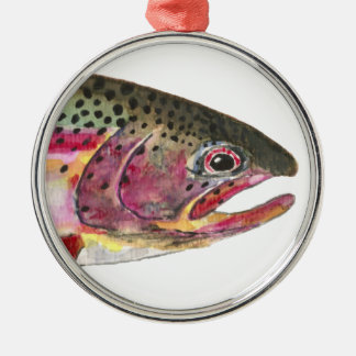 Pescados de la trucha arco iris ornamente de reyes