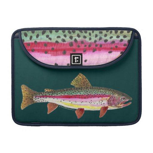 Pescados de la trucha arco iris funda para macbook pro