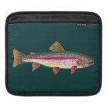 Pescados de la trucha arco iris mangas de iPad
