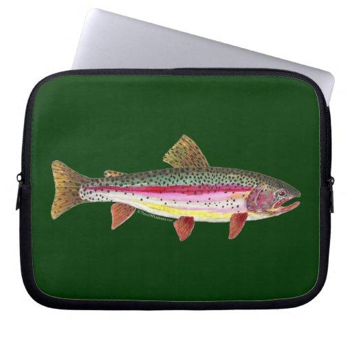 Pescados de la trucha arco iris mangas portátiles