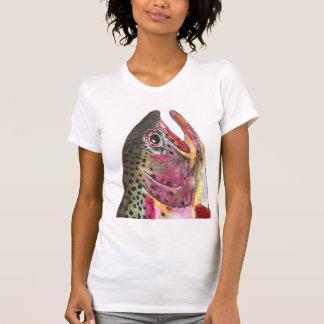 Pescados de la trucha arco iris camiseta