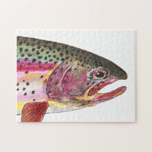 Pescados de la trucha arco iris puzzles con fotos