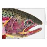 Pescados de la trucha arco iris tarjeta