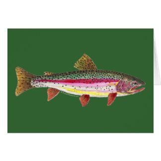 Pescados de la trucha arco iris tarjetas