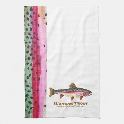 Pescados de la trucha arco iris toalla de mano