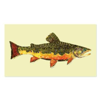 Pescados de la trucha de arroyo plantillas de tarjetas personales