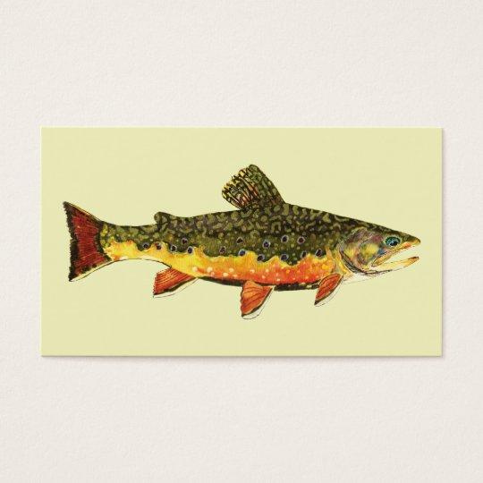 Pescados de la trucha de arroyo tarjeta de negocios