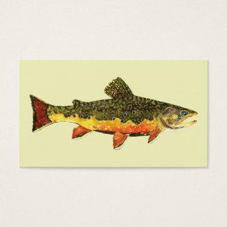 Pescados de la trucha de arroyo tarjetas de visita