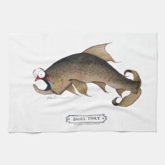 Pescados de la trucha de Brown, fernandes tony Toalla De Cocina