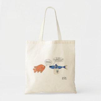 Pescados de las compras bolsa tela barata