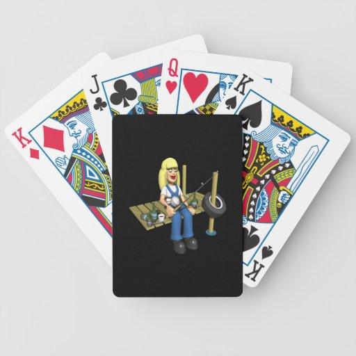 Pescados de las mujeres también cartas de juego