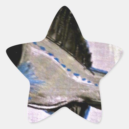 Pescados de linterna pegatina en forma de estrella